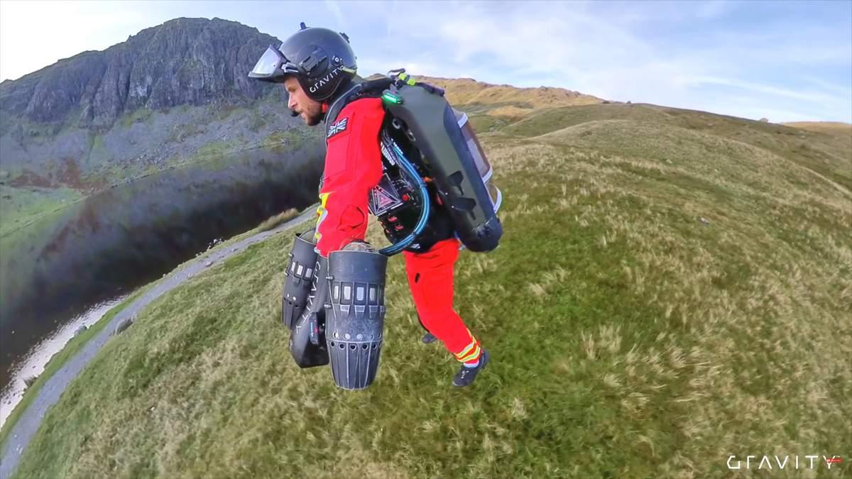 Реактивний рятувальний костюм представили у Британії: відео
