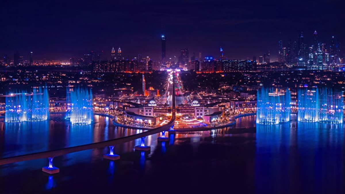 В Дубае 22.10.2020 открыли крупнейший в мире фонтан: видео