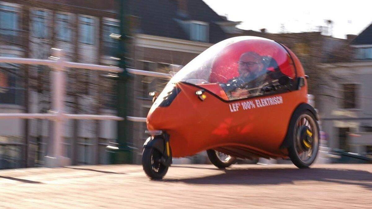 Нідерландська компанія представила триколісний електромобіль LEF