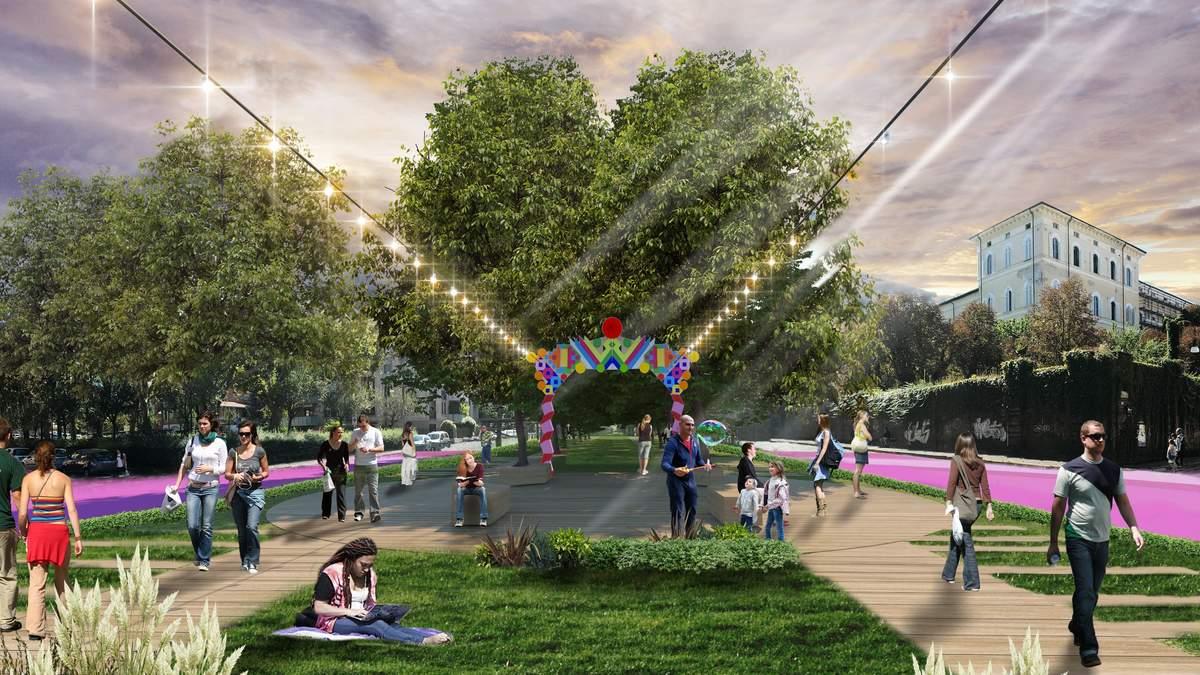 В Італії створили парк на занедбаній трамвайній колії: фото
