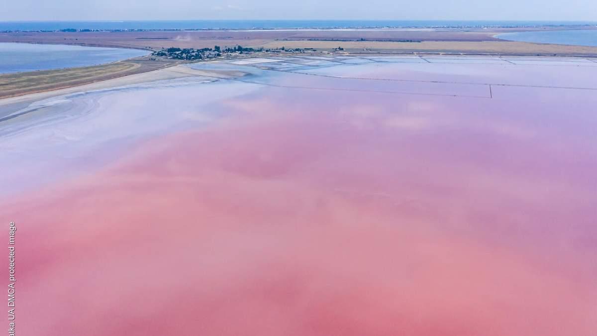 Розовым озером на Херсонщине можно гулять виртуально: 3D-тур