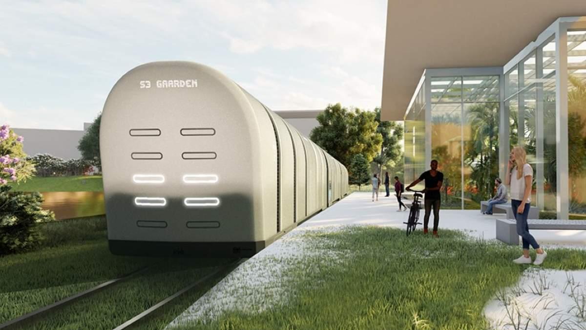 Студент придумал уникальный трамвай, который будет очищать воздух: фото проекту