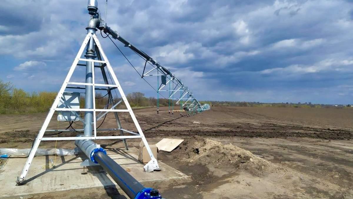 На Николаевщине строят первую в Украине двукрылую оросительную систему