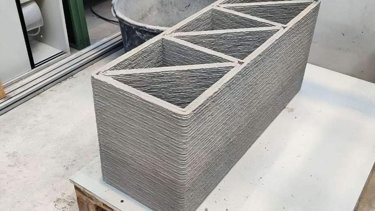Бетон зі сміттєвого скла, який можна використовувати у 3D-будівництві