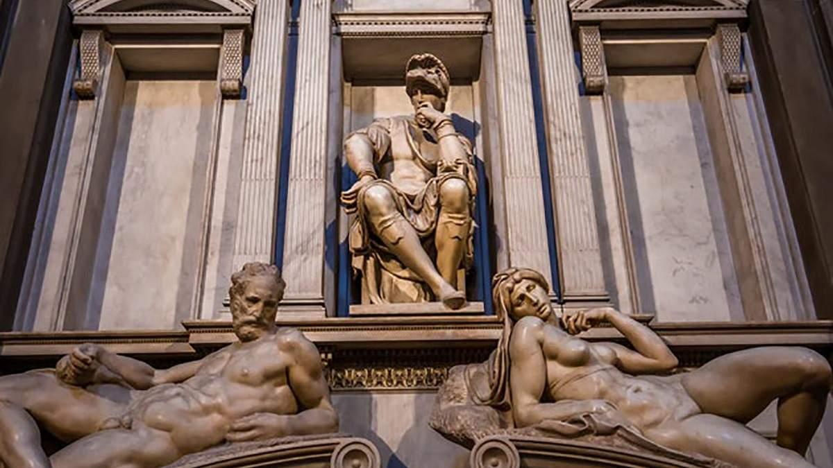 Шедевры Микеланджело в Италии очистили с помощью бактерий