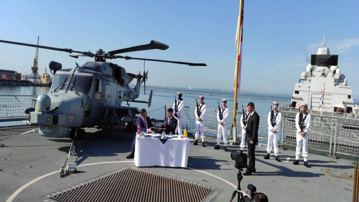 Великобритания и Украина будут строить военные корабли и базы для ВМС