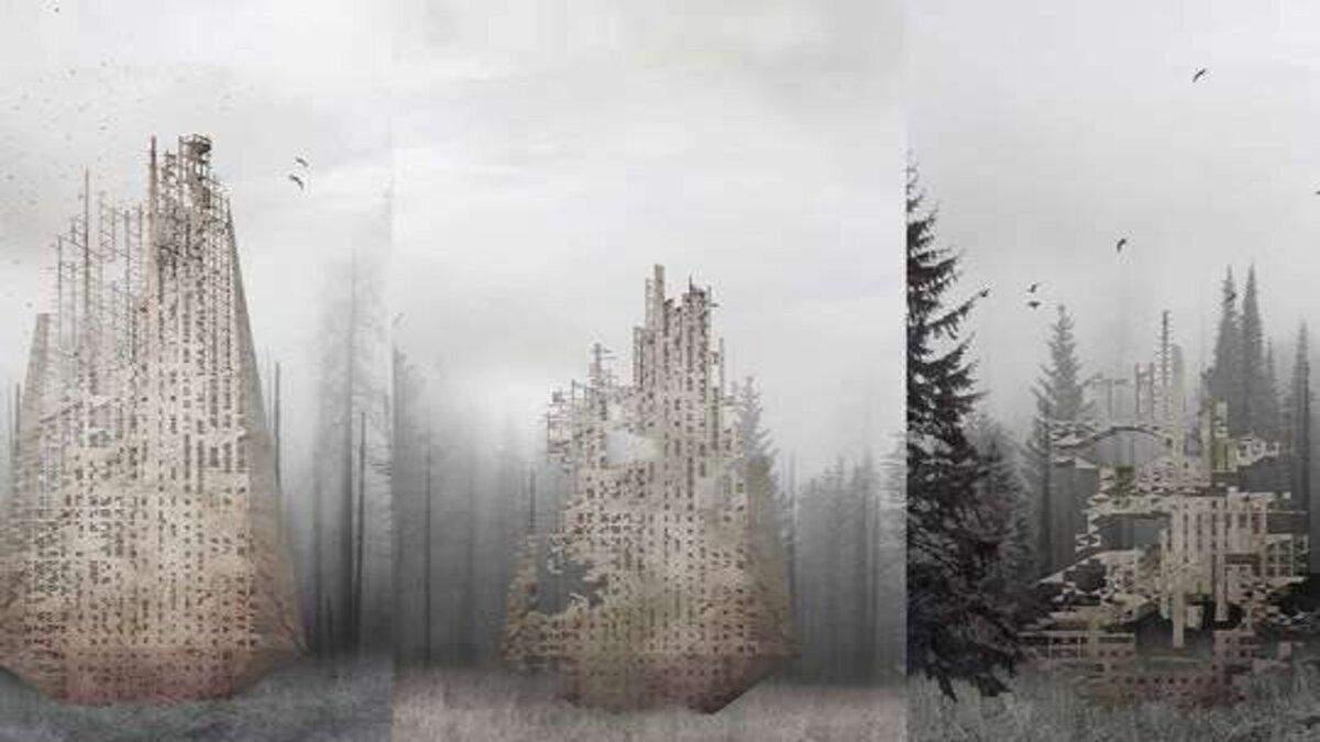 Небоскреб, что восстанавливает леса и разлагается