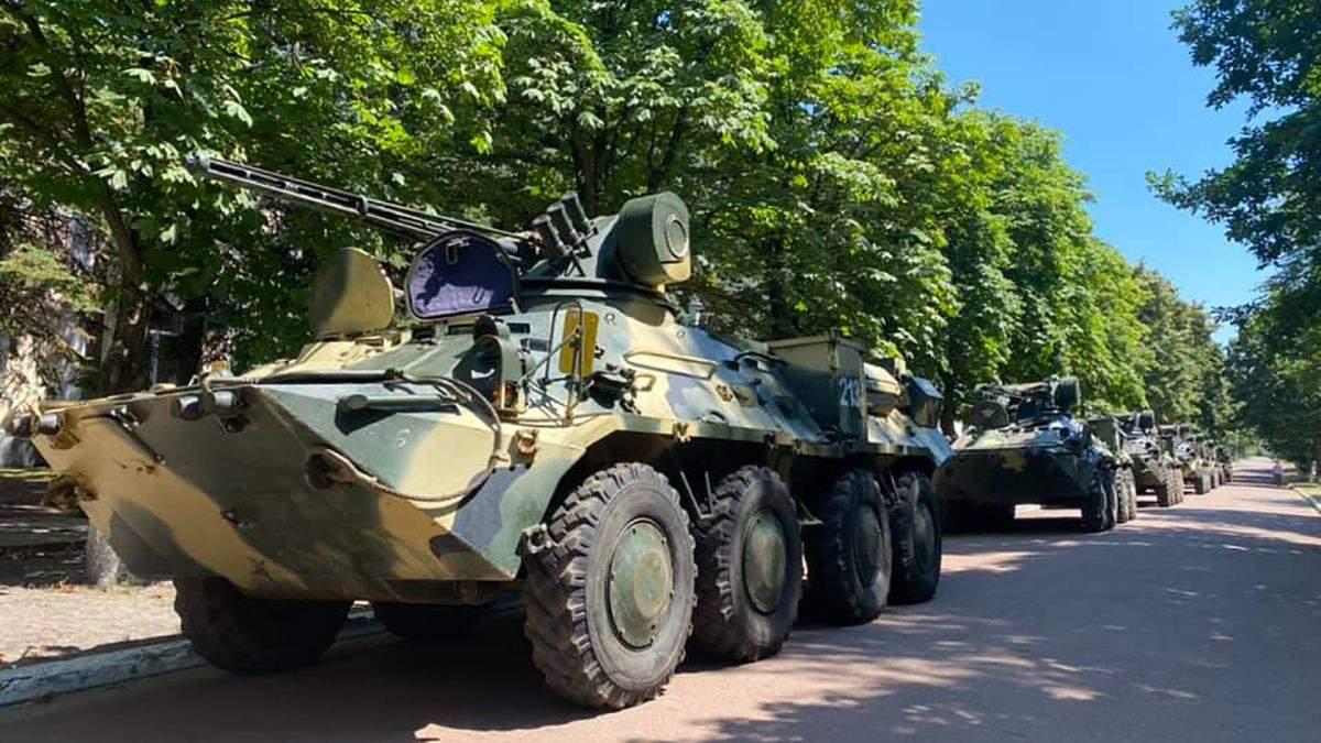 У Києві відремонтували партію українських БТР: фото