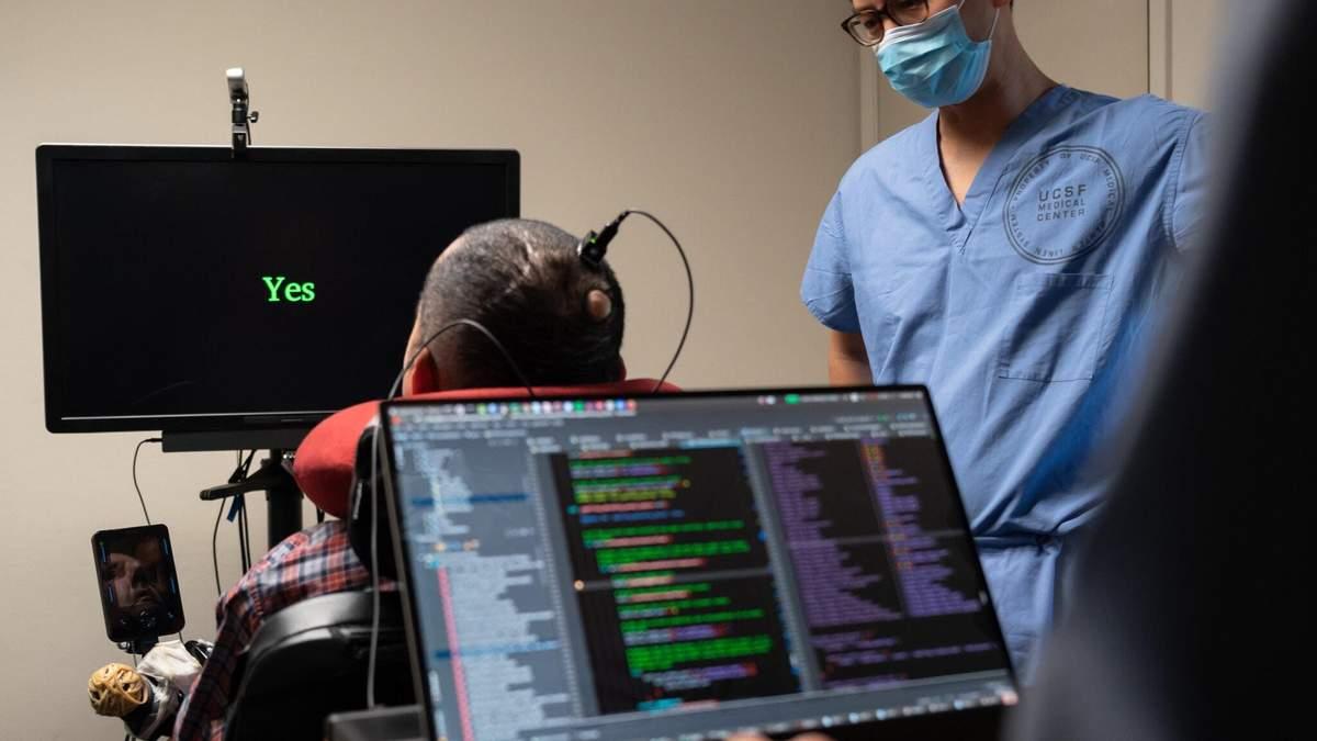 Мозковий імплантат дозволив паралізованому чоловікові знову говорити