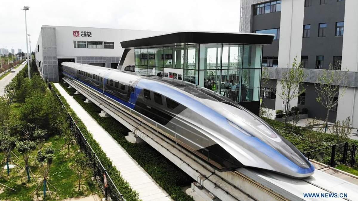 Китайцы представили самый быстрый в мире поезд фото, видео