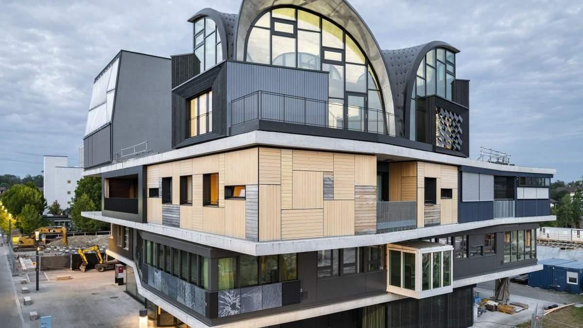 Інноваційні методи будівництва: у Швейцарії показали споруду HiLo, що знижує викиди CO2 - Інновації