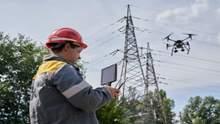 На Днепропетровщине работники ДТЭК с помощью дрона обследовали почти 400 км электролиний