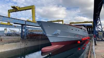 Во Франции спустили на воду первое патрульное судно нового поколения для ВМС