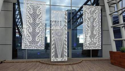 Самобытная выставка: в Киеве представили гигантские вырезки – фото