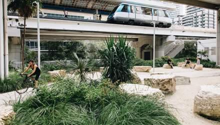 В американському Маямі відкрили парк під лінією метро: промовисті фото