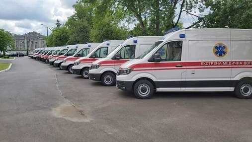 Волынь получила 14 новых автомобилей скорой медицинской помощи