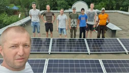 В Харькове предприниматель построил СЭС на крыше детского дома