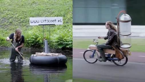 Юний винахідник розробив мотоцикл, який працює на болотному пальному: хоче врятувати планету