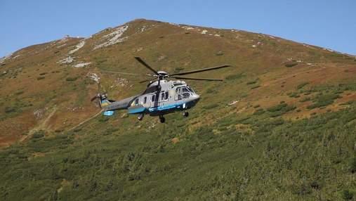 Гвардійські гелікоптери Airbus відпрацювали польоти у Карпатах: потужне відео