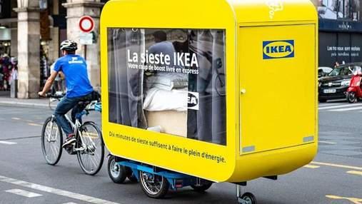 В Париже IKEA запустила вагончики для послеобеденного сна