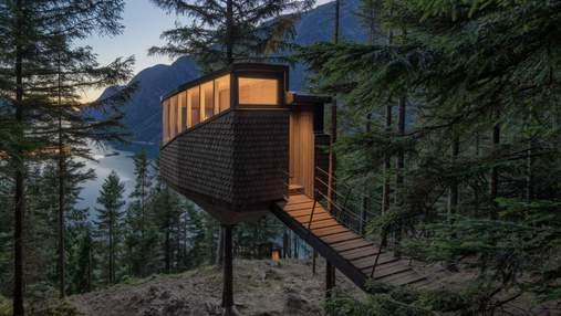 В Норвегии построили отель на деревьях: впечатляющие фото