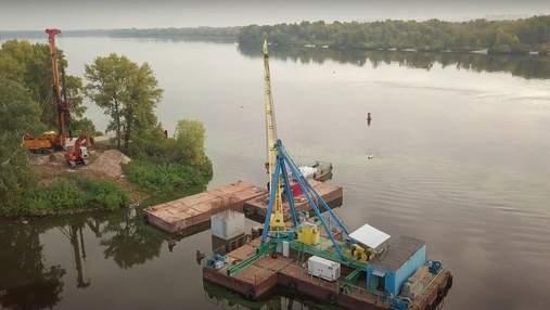 В Киеве продолжается строительство Оболонского моста: красноречивое видео