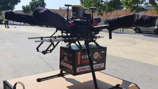 В Израиле дрон-курьер впервые доставил клиенту заказ из ресторана